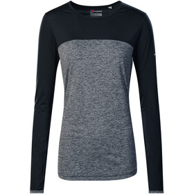 Berghaus Voyager Tech Tee LS Crew Baselayer Women Carbon Marl/Jet Black